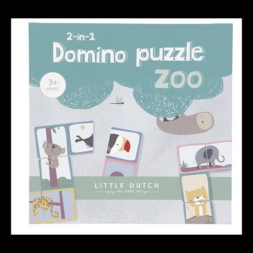 Puzzle Dominos Zoo 2 en 1