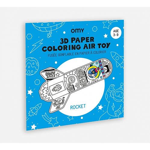 Coloriage 3D Air Toy - Fusée
