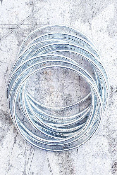 Jonc Tibétain - Silver Or Blanc Fin