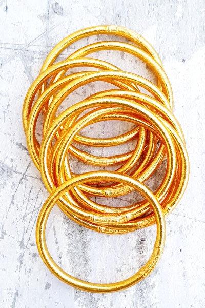 Jonc Tibétain - Classic Gold Épais Mantra