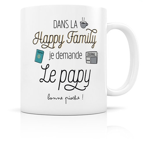 Mug Happy Family - Le papy