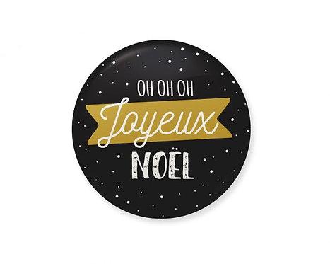 "Badge ""Oh oh oh Joyeux Noël"""