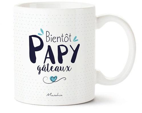 "Mug ""Bientôt Papy gâteau"""