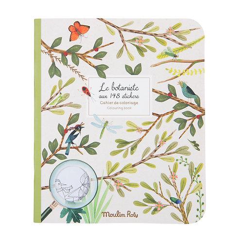 Cahier Stickers Le Botaniste - Le Jardin du Moulin