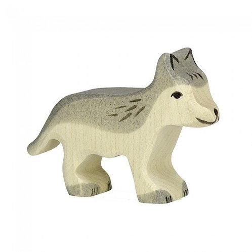 Figurine en bois - Louveteau