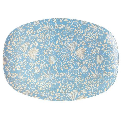 Plateau - Fleurs Bleues