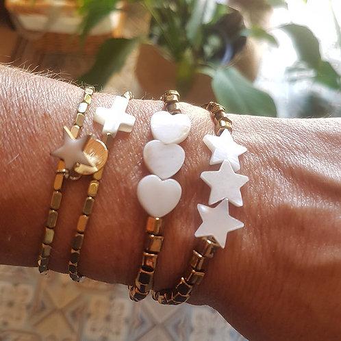 Bracelet Cœurs ou Etoiles