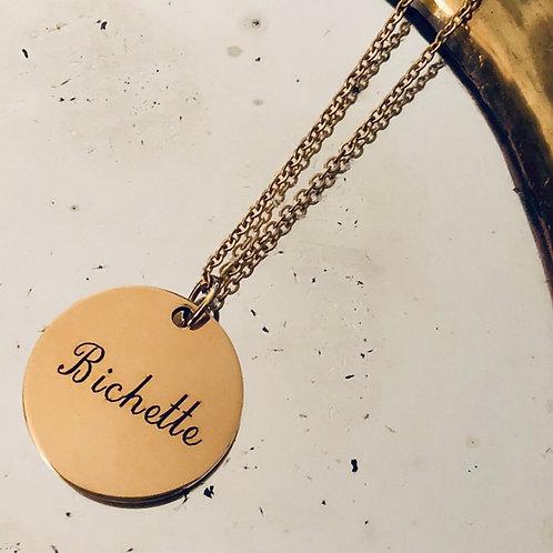 Collier médaille - Bichette
