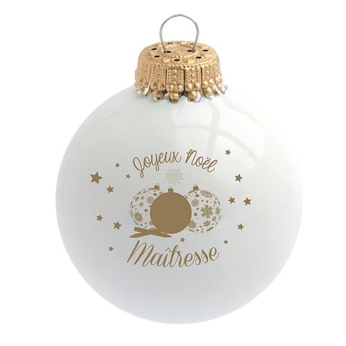 Boule de Noël - Maîtresse