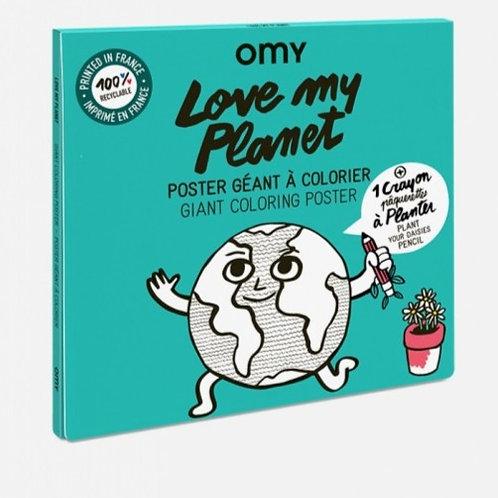 Poster à colorier - Love My Planet