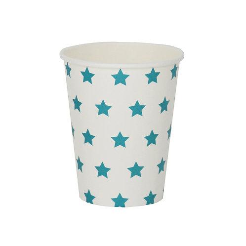 Gobelets étoiles bleues