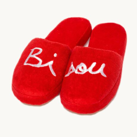 Chaussons Bisou - Rouge
