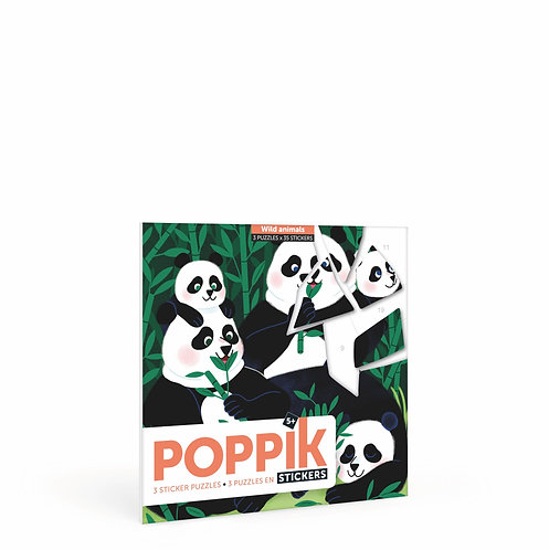 Super Puzzles en gommettes Poppik