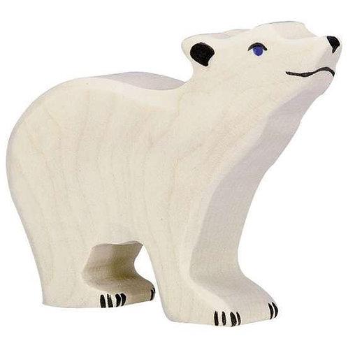 Figurine en bois - Ourson Blanc