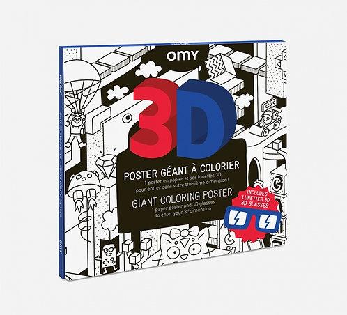 Poster à colorier - Vidéo Games 3D