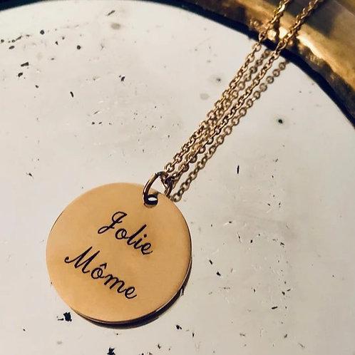 Collier médaille - Jolie Môme