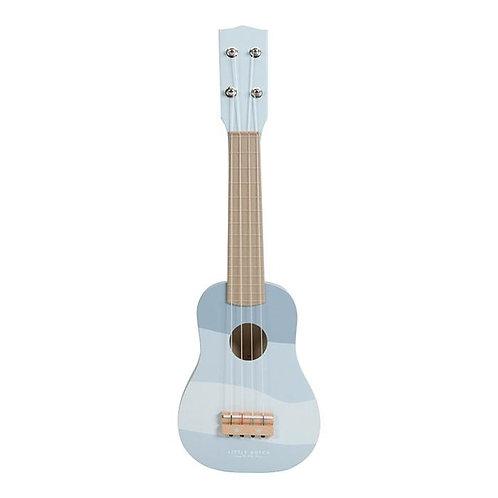 Guitare en bois - Bleue