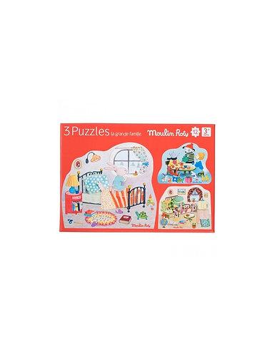 La grande famille - 3 Puzzles