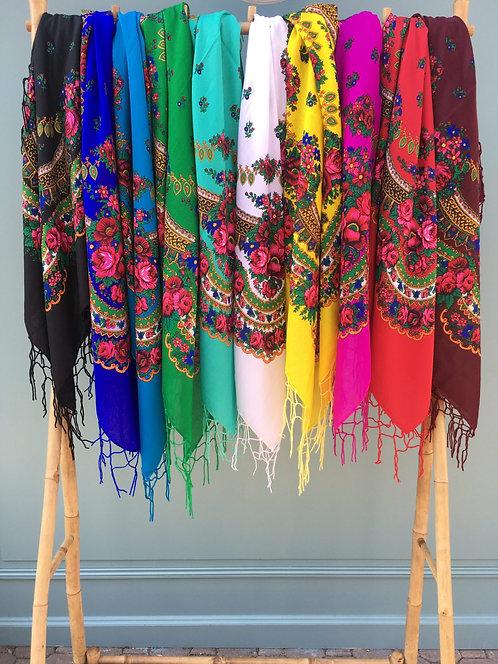 Grand foulard balte
