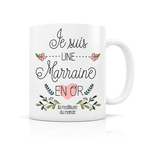 """Mug """"Marraine en Or"""""""