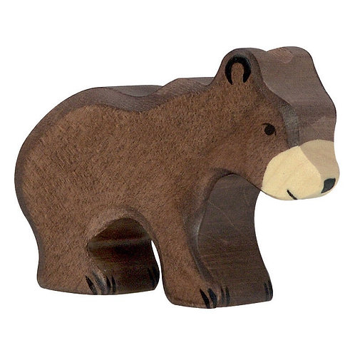 Figurine en bois - Petit Ours Brun