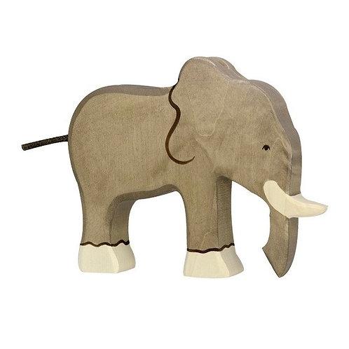 Figurine en bois - Éléphant trompe en bas
