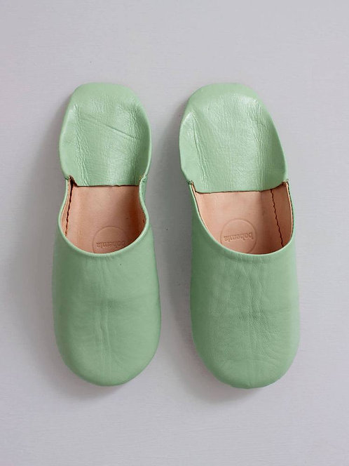 Chaussons Babouche - Sauge