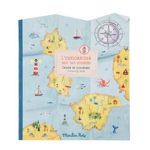 Cahier Stickers L'Explorateur - Le Jardin du Moulin