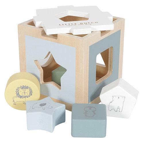 Boîte à Formes en bois - Bleu