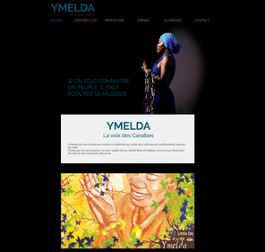 Création du site de l'artiste Ymelda
