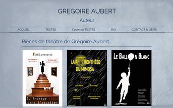 Mise en ligne du site de Grégoire Aubert