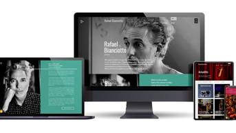 Webdesign du site de l'artiste Rafaël Bianciotto
