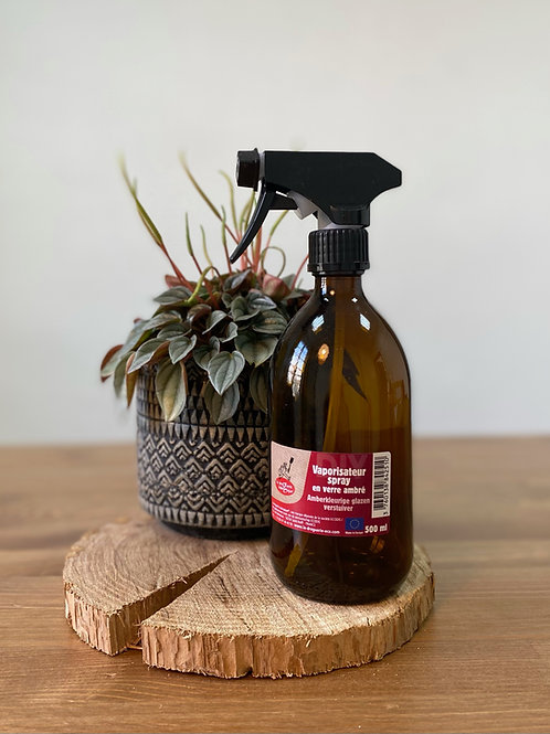 Vaporisateur spray en verre ambré 500ml