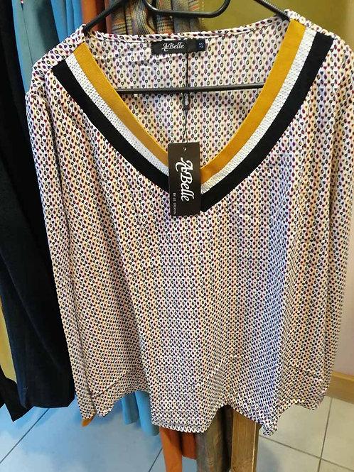 blouse fantaisie col en V