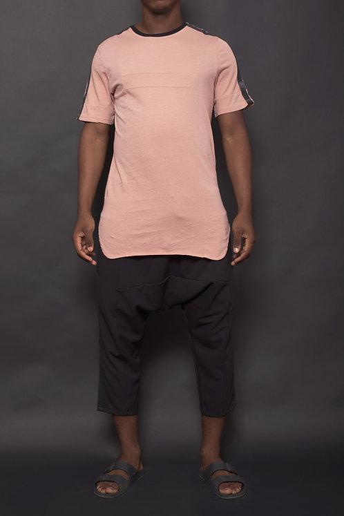 T-shirt bande Mauve