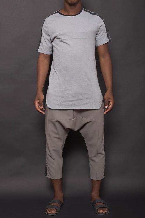T-shirt bande Gris