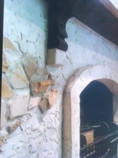 Uzzazo sandstone and render fireplace