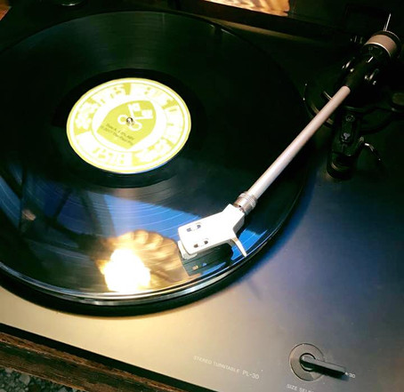 our record player is always available for you to play whatever you want to hear!