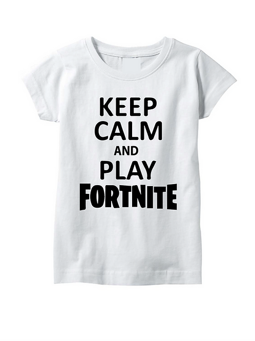 POLERA KEEP CALM AND PLAY FORTNITE
