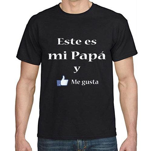 """Polera Día del Padre """"Este es mi Papá y Me gusta"""""""