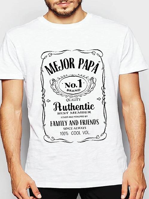Polera Mejor Papá N°1 Whisky