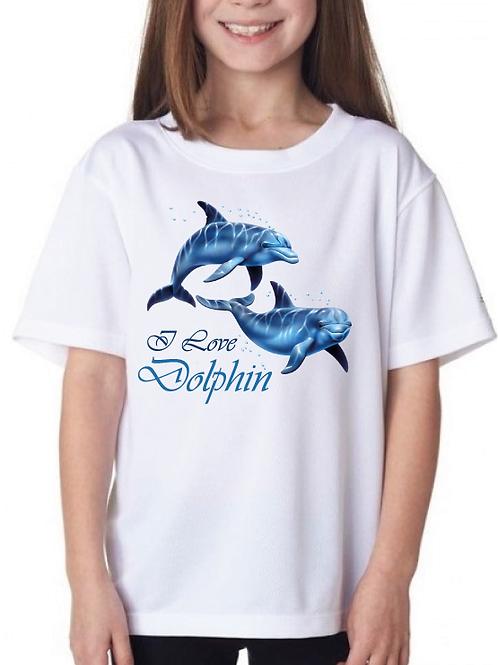 Polera I love Dolphin