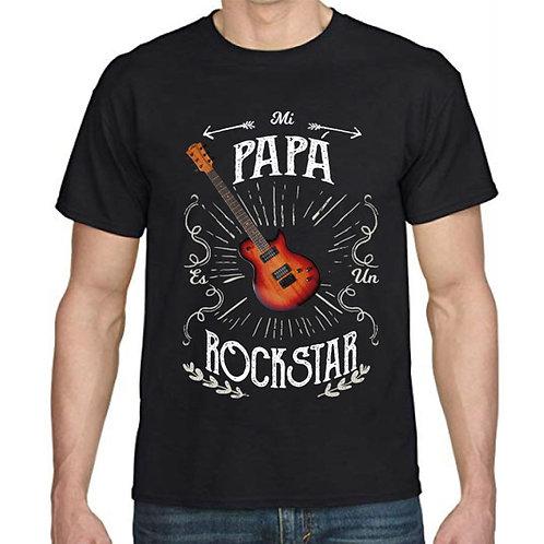 """Polera Día del Padre """"Papá Rockstar Guitarra"""""""