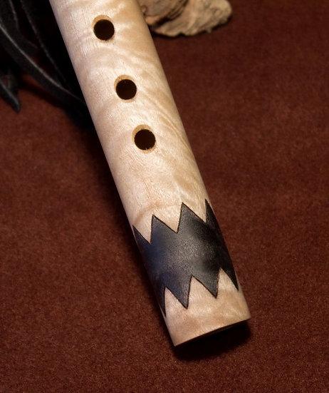 Poplar Burl and Black Gabon Ebony Medicine Wheel Trail Flute