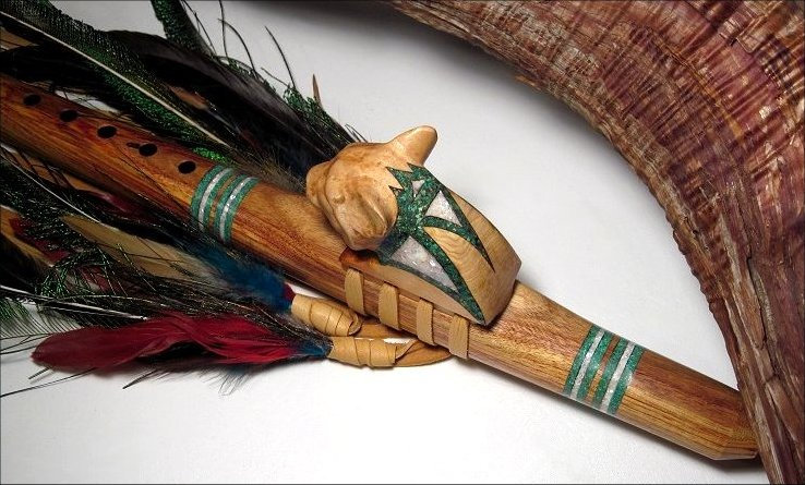 Collectible Exotic Canary Wood 'Cougar' Native American Flutes