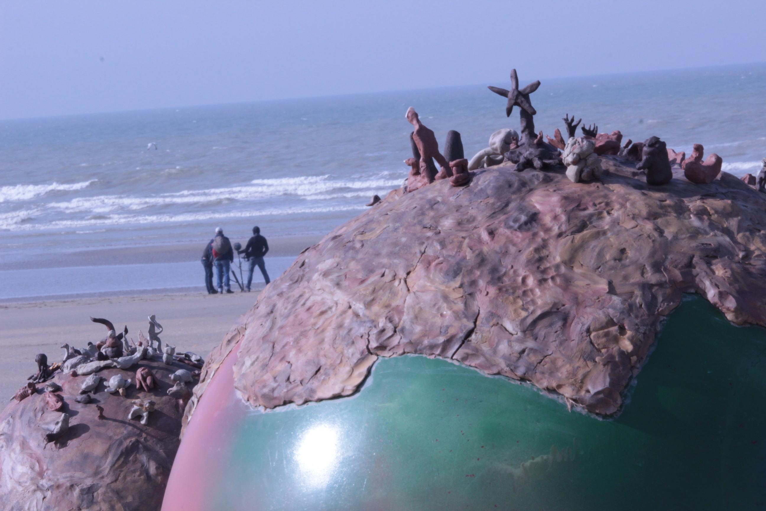 q Rode Aarde, puurlain, Clean up the beach, De Panne, side shore surfers (28)