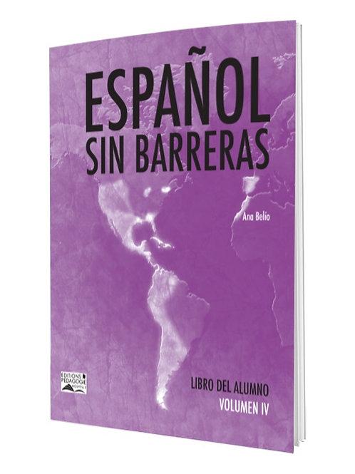 ESPAÑOL SIN BARRERAS #4  LIBRO / NS1