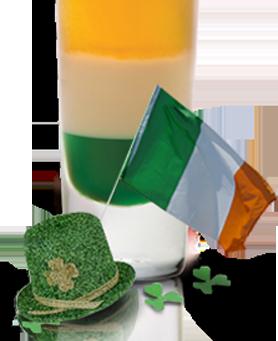 Recette Irish Flag Drink (Drapeau Irlandais)