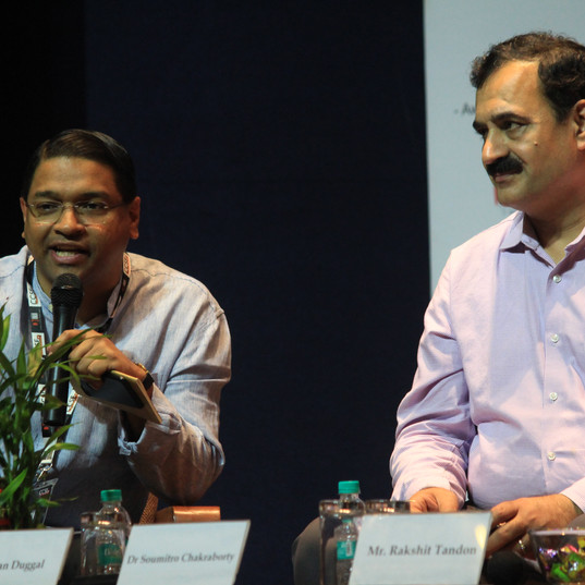 Dr. Soumitro Chakraborty with Pavan Duggal-D-Talk