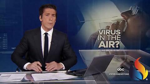 Estracto del telediario de EEUU en el que se empieza a plantear el contagio por aerosoles y aire acondicionado.